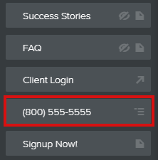 Phone number page